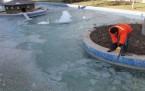Konya'da Havuzlar Buz Tuttu