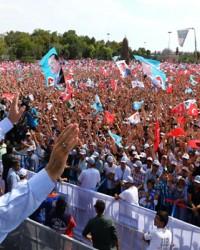 Erdoğan'ın Son Konya Mitinginden Kareler
