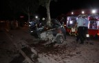 Konya'da Feci Kaza-Otomobil Bu Hale Geldi-1 Ölü