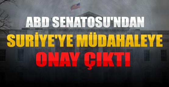 ABD Senatosu Suriye'ye Müdahaleyi Onayladı