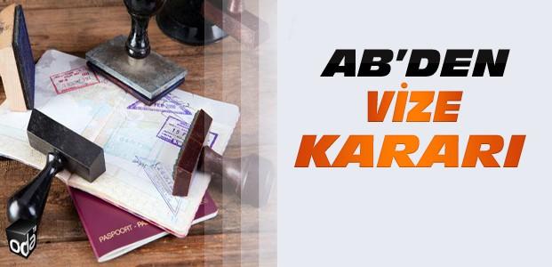 AB'den Türkiye için vize kararı