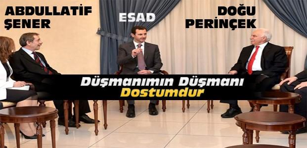 Abdullatif Şener ve Perinçek Esad'la Görüştü