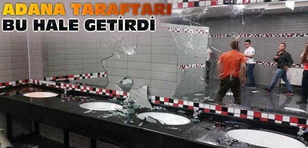 Adanaspor Taraftarı Konya Stadna Zarar Verdi