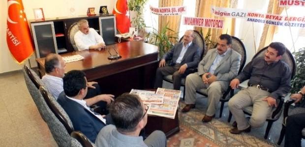 Ak Parti İl Teşkilatı'ndan Mhp Ve Sp'ye Ziyaret