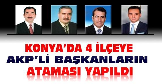 Ak Parti Konya'da 4 İlçeye Yeni Başkanlarını Atadı