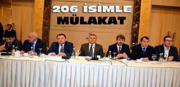 Ak Parti Konya'da Mülakatlar Yapıldı