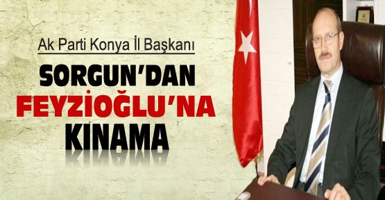 AKP Konya İl Başkanı Sorgun'dan Feyzioğlu'na Kınama