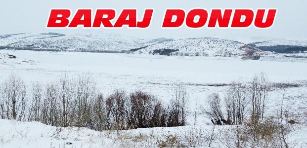 Altınapa Barajını Buz Tuttu