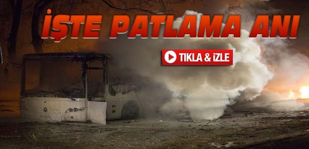 Ankara'daki Patlama Anı-VİDEO