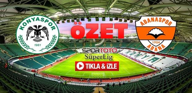 Atiker Konyaspor-Adanaspor-ÖZET-VİDEO