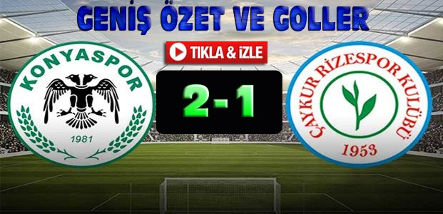 Atiker Konyaspor Çaykur Rizespor Özet-VİDEO