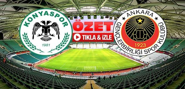 Atiker Konyaspor Gençlerbirliği-ÖZET-VİDEO