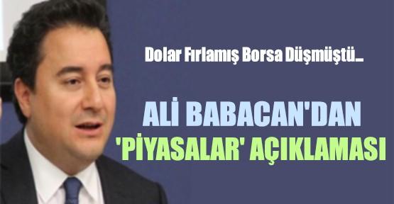 Babacan'dan Dolar Açıklaması