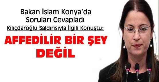 Bakan Ayşenur İslam Kılıçdaroğlu saldırısıyla ilgili Konya'da konuştu