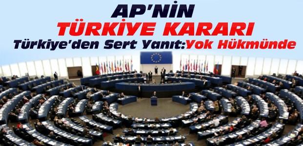 Bakan Bozkır'dan AP Raporuna sert tepki