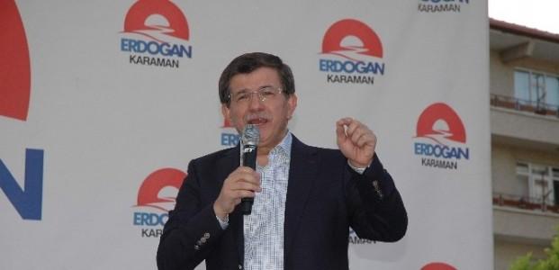 Bakan Davutoğlu Ve Elvan Karaman'da