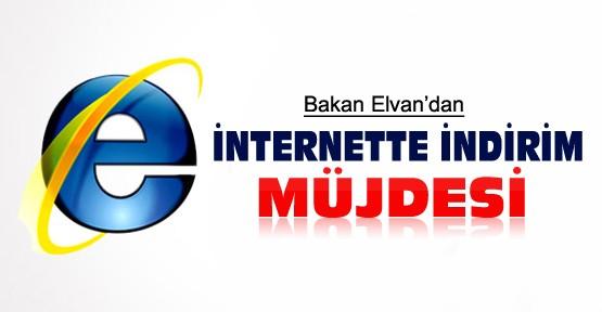 Bakan Elvan'dan internette indirim müjdesi