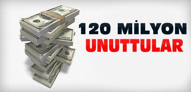 Bankalarda 120 Milyon TL Unutuldu