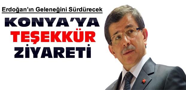 Başbakan Davutoğlu'ndan Konya'ya Teşekkür Ziyareti