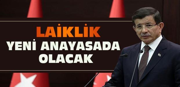 Başbakan Davutoğlu'ndan laiklik açıklaması