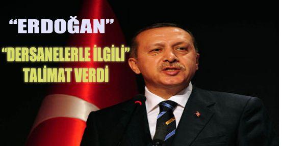 Başbakan'dan Dersane Talimatı