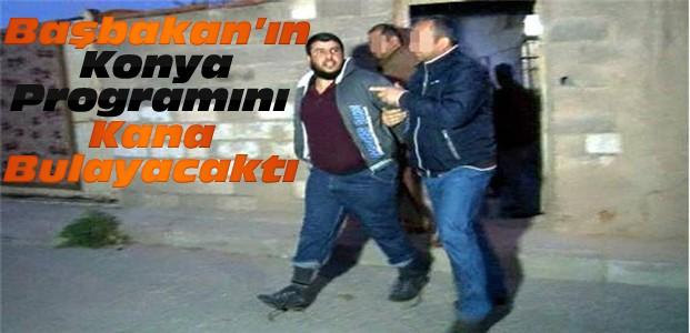 Başbakan'ın Konya programında canlı bomba engellendi