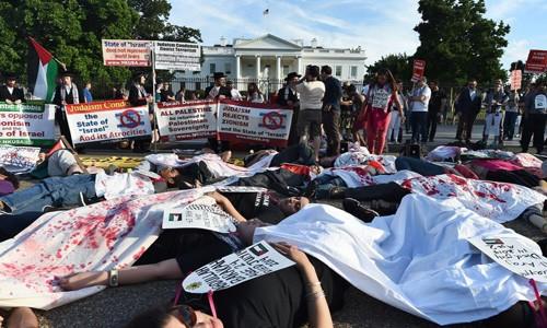 Beyaz Saray Önünde Gazze Eylemi