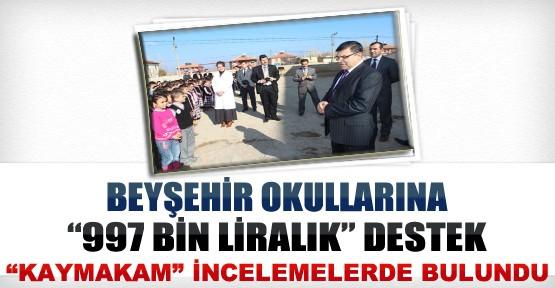 Beyşehir Okullarına 997 Bin TL'lik Destek