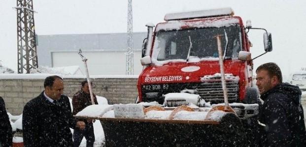 Beyşehir'de Karla Mücadele Seferberliği