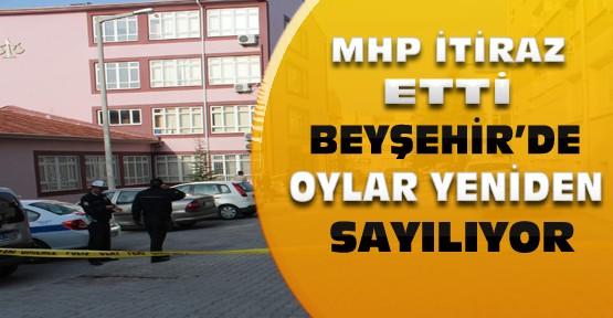 Beyşehir'de MHP'nin itirazı üzerine oylar yeniden sayılıyor