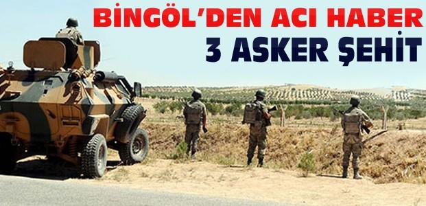 Bingöl'den Yine Acı Haber:3 Asker Şehit 6 Yaralı