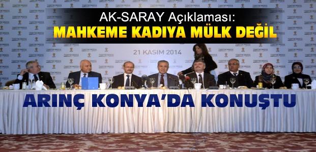 Bülent Arınç'tan Konya'da Önemli Açıklamalar