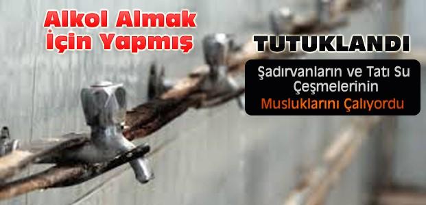 Cami ve Şadırvan Musluklarını Çalan Kişi Tutuklandı