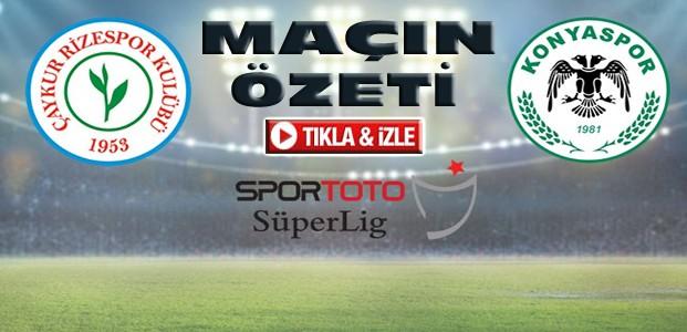 Çaykur Rizespor-Atiker Konyaspor-ÖZET-VİDEO