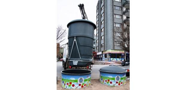 Selçuklu'da Yeraltı Çöp Konteyner Çalışmaları