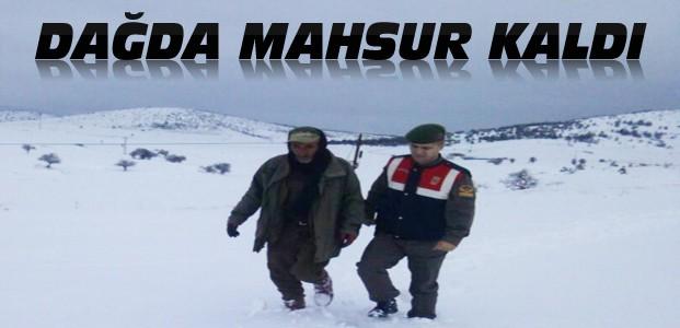 Dağda Mahsur Kalan Besiciyi Jandarma Kurtardı