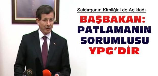 Davutoğlu: Ankara Patlaması YPG'nin İşi