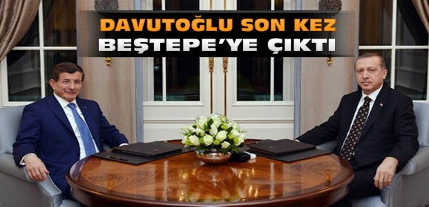 Davutoğlu Erdoğan'a istifasını sundu
