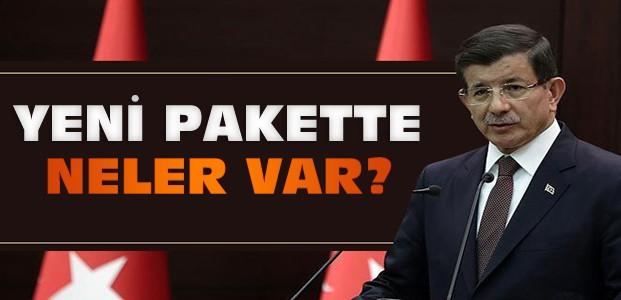 Davutoğlu yeni reform paketini açıkladı