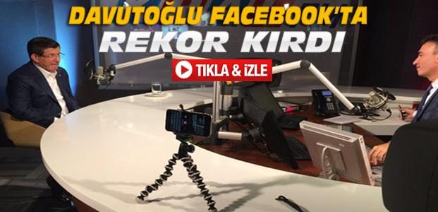 Davutoğlu'ndan Bir İlk-Facebook'ta Rekor Kırdı-VİDEO
