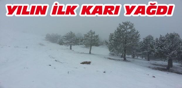 Derbent Aladağ'a Mevsimin İlk Karı Yağdı