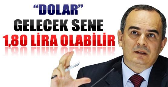 Dolar Gelecek Sene 1,80 Lira Olabilir