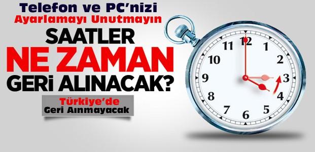 Dünya Saatleri Geri Alıyor-Türkiye Durduracak