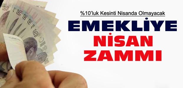 Emekliye Nisanda 381 TL'lik Zam