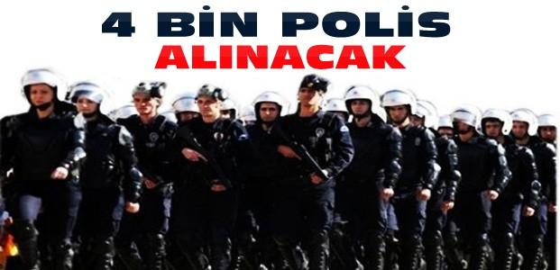 Emniyete 4 Bin Polis Memuru Alınacak