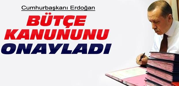 Erdoğan 2016 Bütçe Kanununu Onayladı