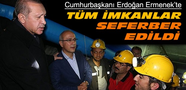 Erdoğan Ermenek'te İncelemelerde Bulundu