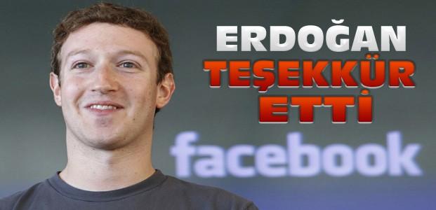 Erdoğan'dan  Mark Zuckerberg'e Teşekkür