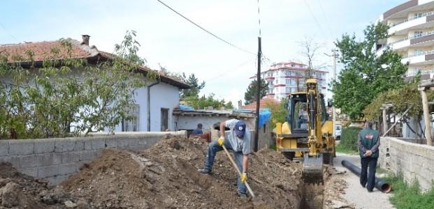 Ereğli'de Kanalizasyon Çalişmaları Sürüyor