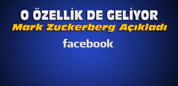 Facebook'a O Özellik de Geliyor